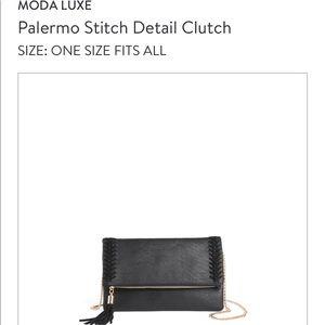 Moda Luxe Black Clutch